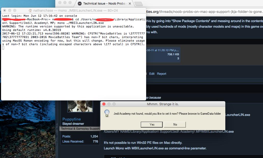 Technical Issue - Noob Probs on Mac: App Support JKJA folder is gone